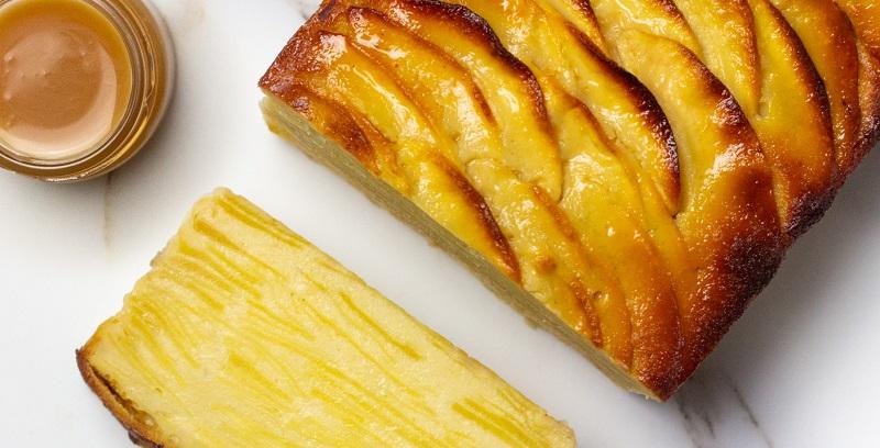 pastel de manzana invisible) con caramelo Miso